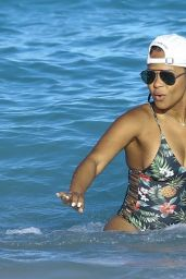 Christina Milian in Swimsuit - Miami 01/04/2016