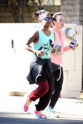 Christina Milian - Jogging in Studio City, January 2016