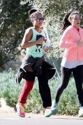 Christina Milian - Jogging in Studio City, January 2016