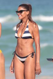 Claudia Jordan Hot in Bikini - Beach in Miami 1/2/2016
