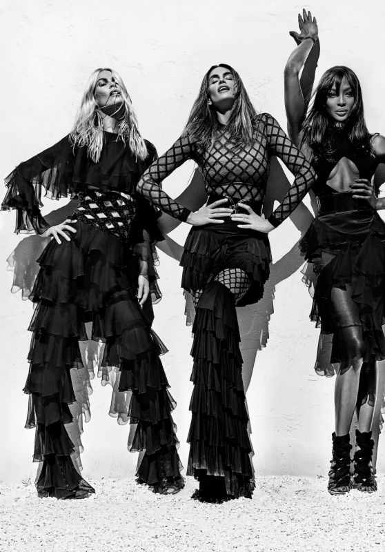 Claudia Schiffer, Cindy Crawford & Naomi Campbell - Photo Shoot for Balmain Spring/Summer 2016