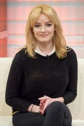 Dakota Blue Richards Appeared on Good Morning Britain in London, January 2016