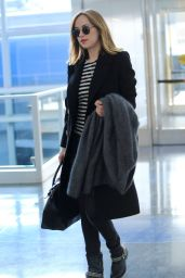 Dakota Johnson at JFK Airport in New York City 1/16/2016