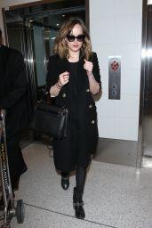 Dakota Johnson Casual Style - LAX in Los Angeles 1/26/2016