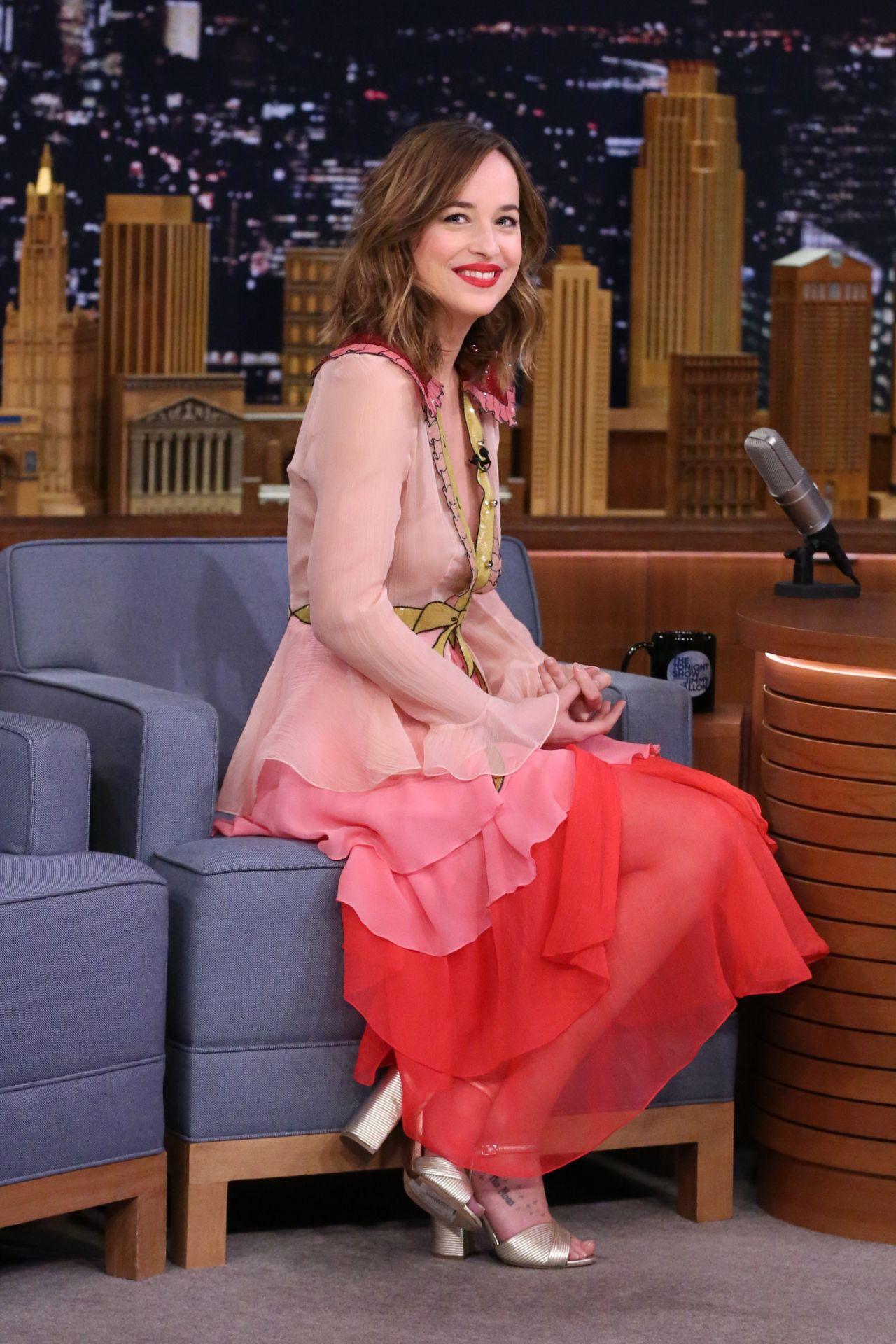 Dakota Johnson Tapes An Appearance On Tonight Show -5682