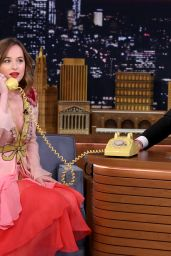 Dakota Johnson Tapes an Appearance on Tonight Show Starring Jimmy Fallon in New York City 1/20/2016
