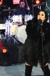 Demi Lovato Performing in Times Square, NY - New Year