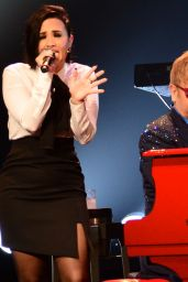 Demi Lovato - Performing with Elton John at the Wiltern in Los Angeles 1/13/2016