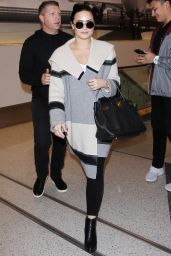 Demi Lovato Style - at LAX in Los Angeles 1/20/2016