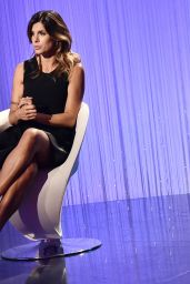Elisabetta Canalis Appears on the TV Show Verissimo in Milan, Italy, January 2016