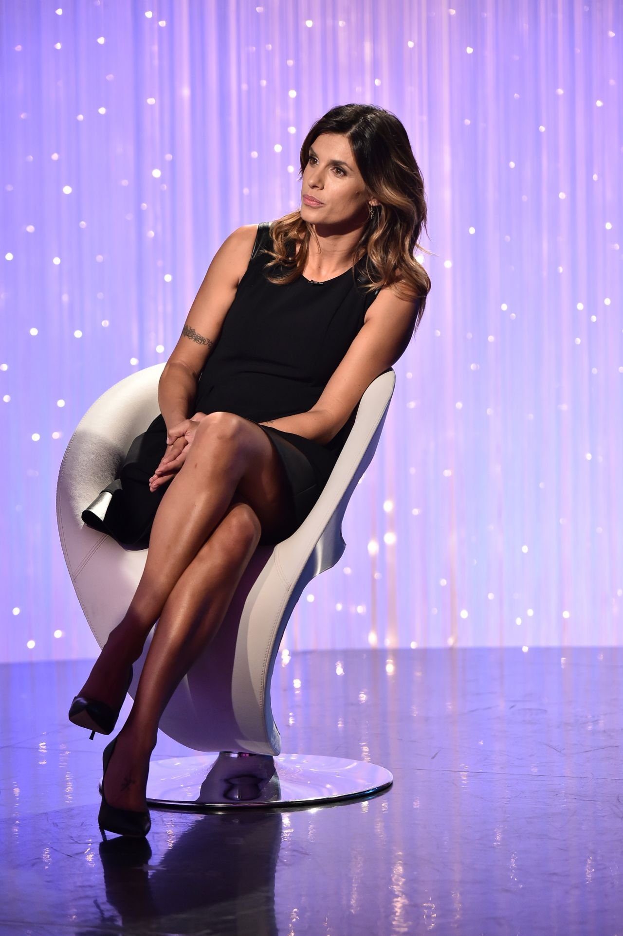 Elisabetta Canalis Appears on the TV Show Verissimo in