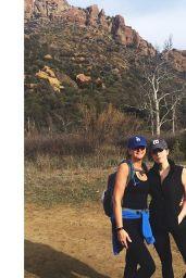 Elizabeth Gillies - Hiking With Mom 1/18/2016