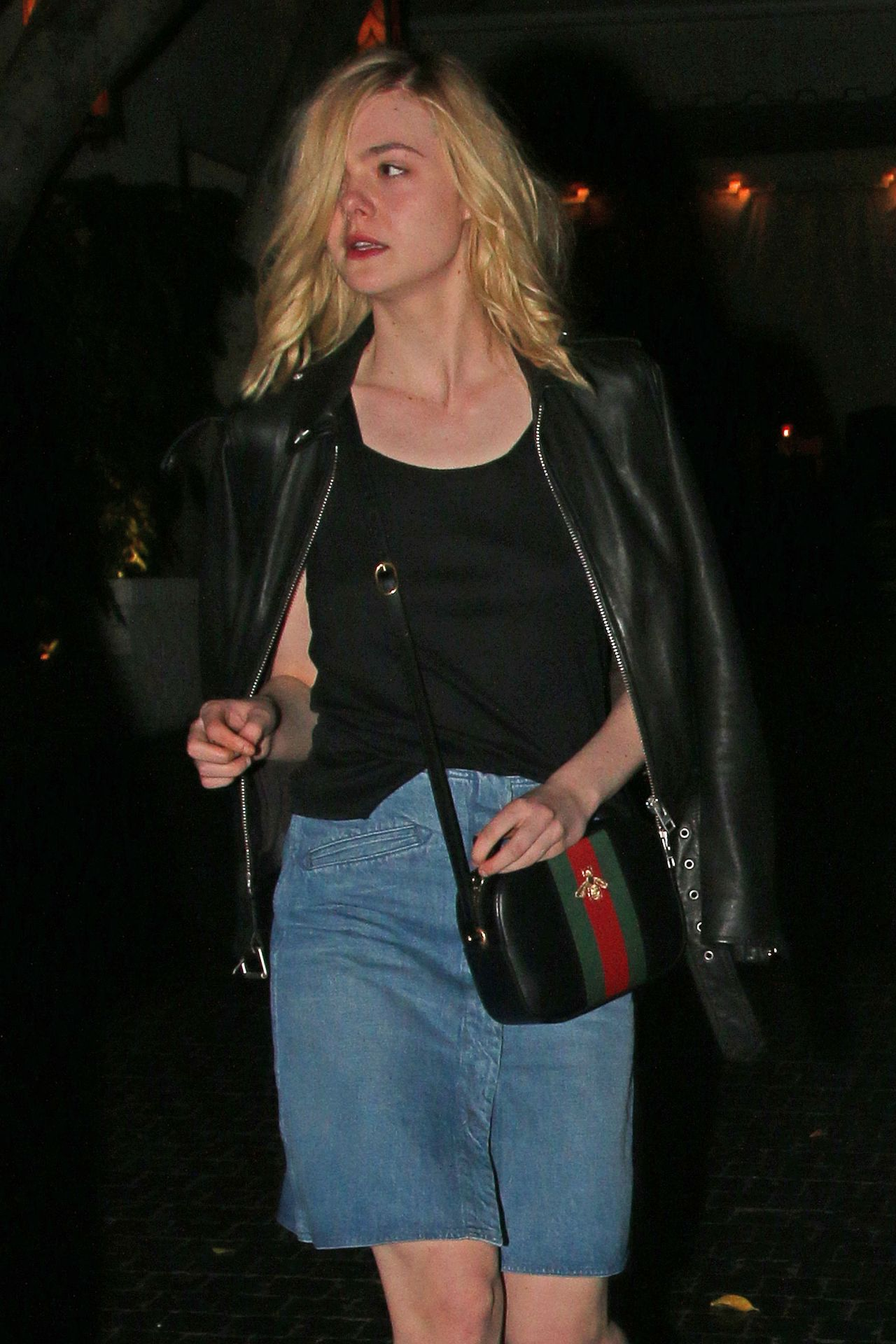 Elle fanning night out style leaving the chateau marmont for Le elle apartments west hollywood