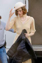 Elle Fanning – On Set of 'Live by Night' in Los Angeles 1/21/2016