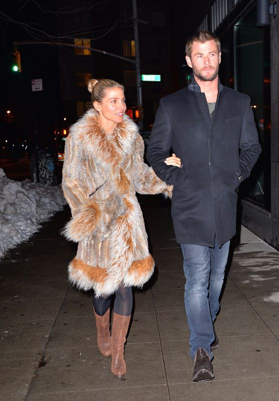 Elsa Pataky Night Out in New York City, January 2016