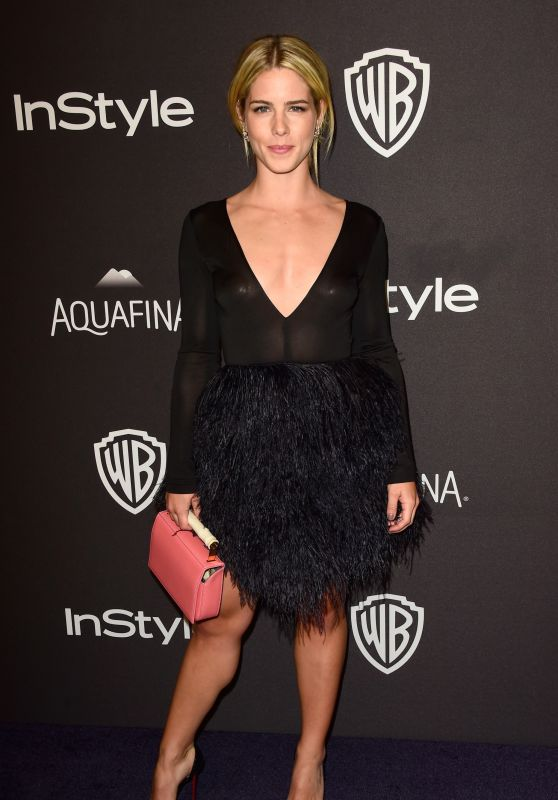 Emily Bett Rickards - InStyle And Warner Bros. Golden Globe Awards 2016 Post-Party in Beverly Hills
