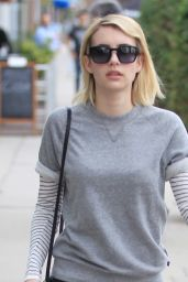 Emma Robert Casual Style - Running Errands in Beverly Hills 1/27/2016
