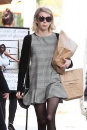Emma Roberts in Mini Dress - Shopping in Los Angeles, 01/14/2016