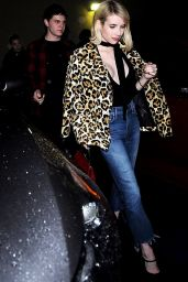 Emma Roberts Night Out Style - Leaving