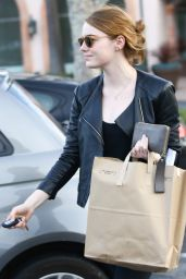 Emma Stone in Tights - Out in Malibu, January 2016