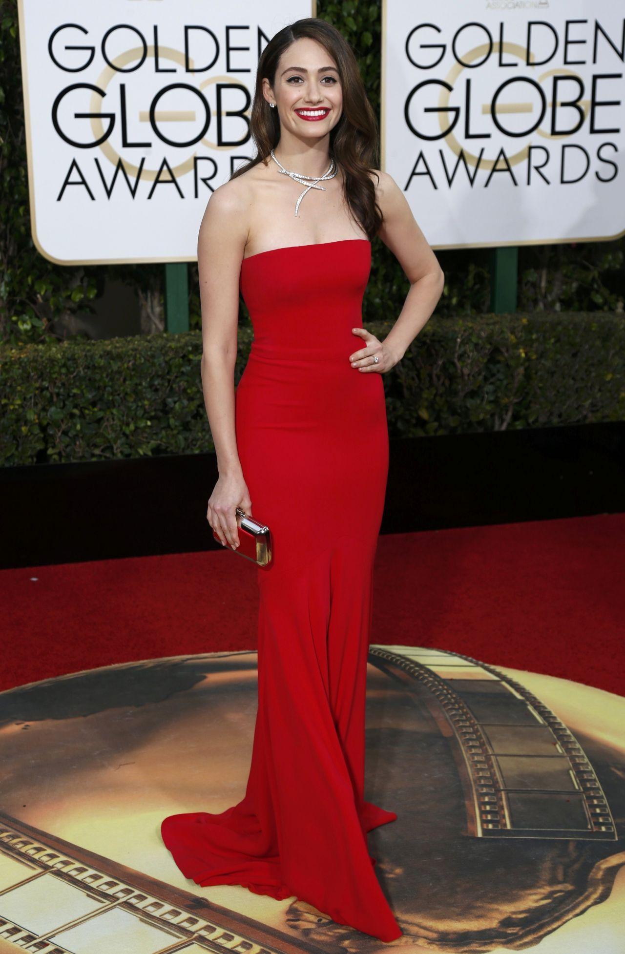 Emmy Rossum 2016 Golden Globe Awards In Beverly Hills