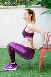 Eva Amurri Martino - Fitness Exercises on Her Blog 1/25/2016