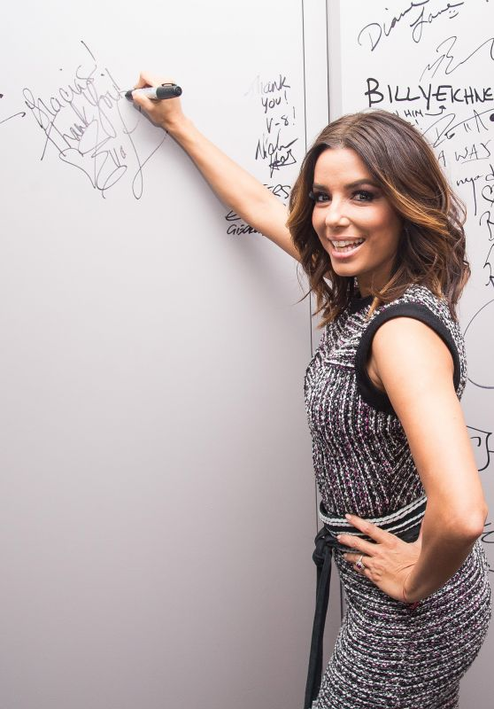 Eva Longoria - Signs the Wall at AOL Studios in New York City, January 2016