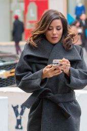 Eva Longoria Style - at the NBC Studios in NYC 1/4/2016