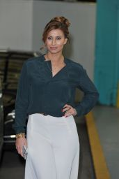 Ferne McCann at the ITV Studios After Presenting the Showbiz Feature This Morning Show in London 1/27/2016