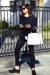 Freida Pinto Street Fashion - Out in LA Los Angeles 1/14/2016