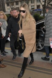 Gigi Hadid at the George V Hotel in Paris, January 2016