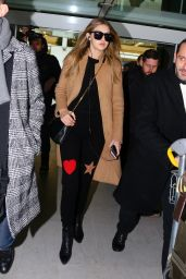 Gigi Hadid - Charles de Gaulle Airport in Paris, January 2016