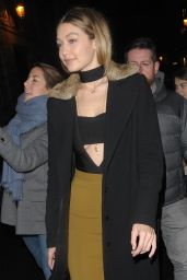 Gigi Hadid Fashion - Out in Paris, January 2016