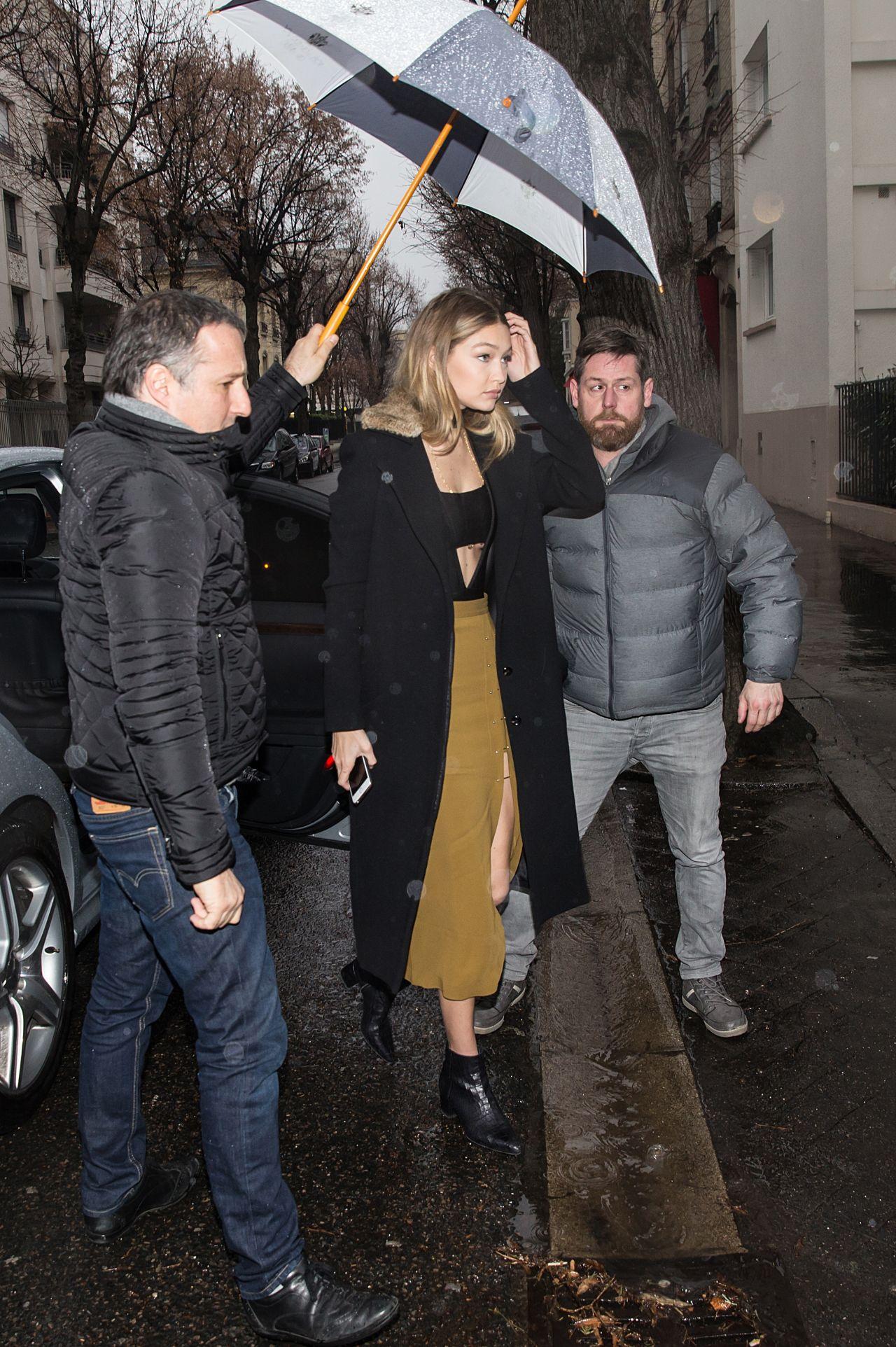 687b6775b7 Gigi Hadid Fashion - Out in Paris