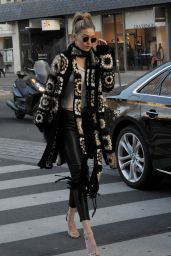 Gigi Hadid Street Fashion - Out in Paris 1/20/2016