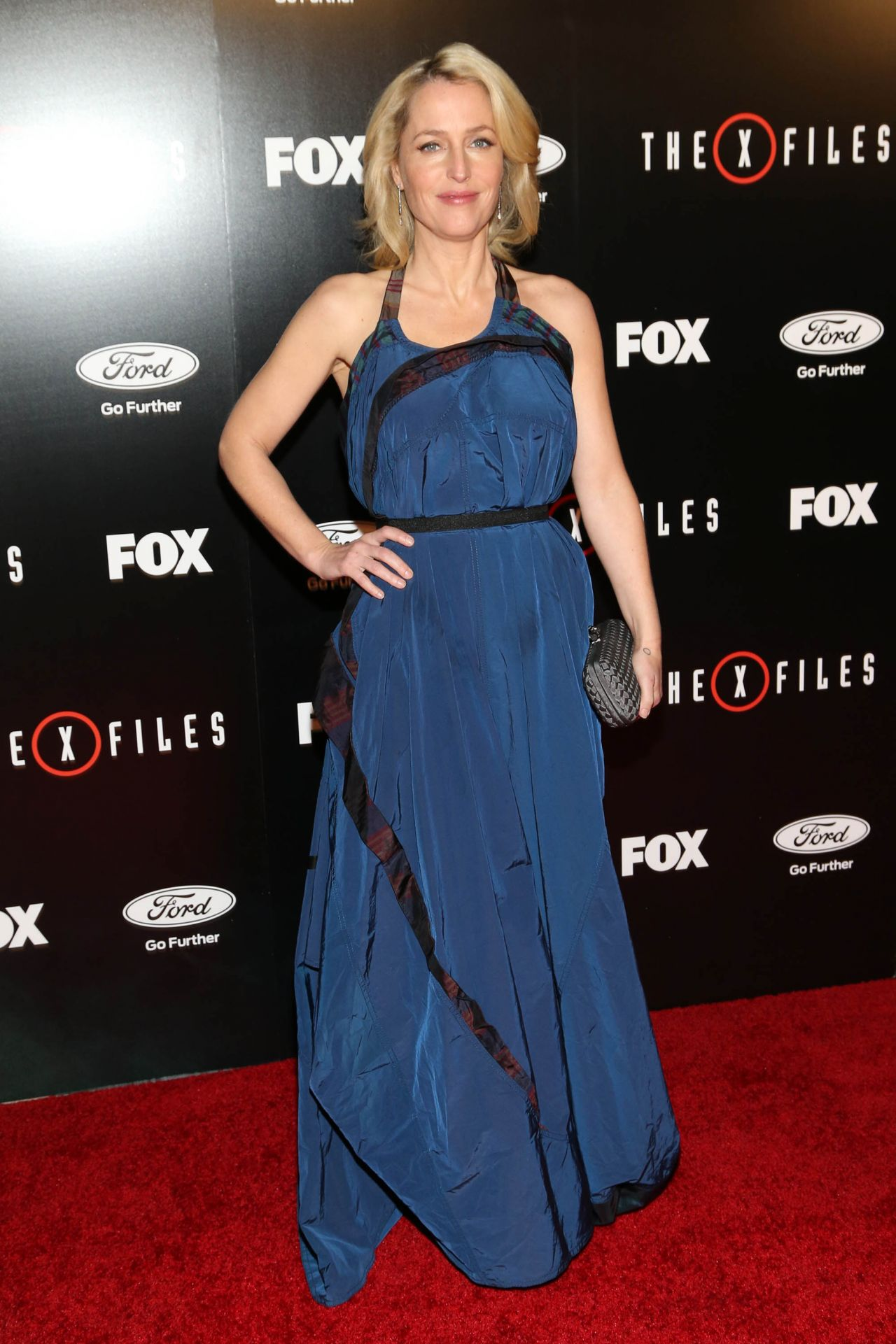 Gillian Anderson The X Files Season Premiere At The