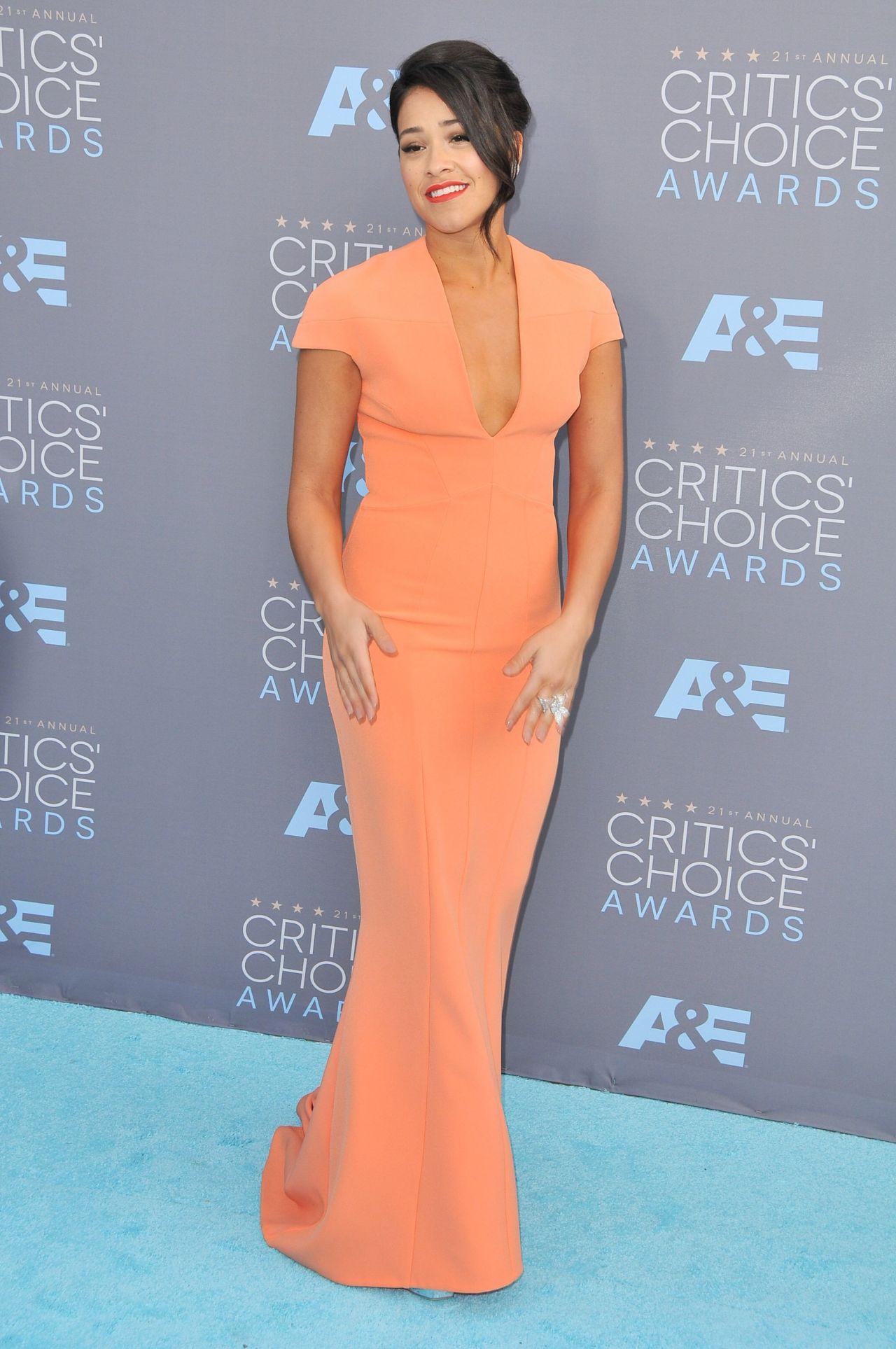 Gina Rodriguez 2016 Critics Choice Awards In Santa Monica