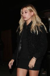 Hailey Baldwin at the Nice Guy in West Hollywood 1/11/2016