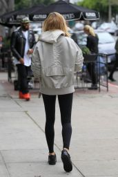 Hailey Baldwin in Tights - Out in Los Angeles 1/18/2016