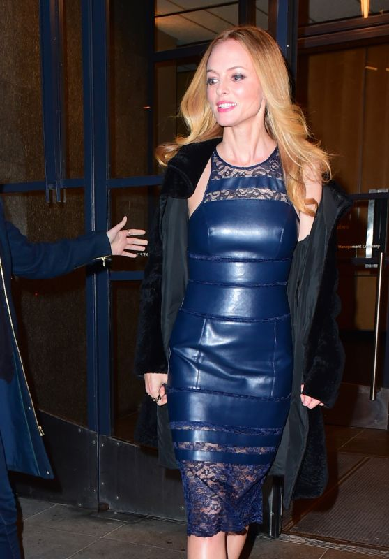 Heather Graham Night Out Style - Leaving