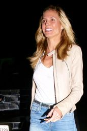 Heidi Klum - Out at Matsuhisa Restaurant in Beverly Hills, January 2016