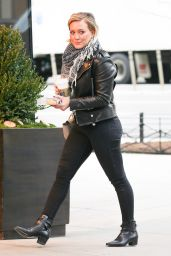 Hilary Duff Casual Style - at Her Hotel in New York City, January 2016