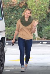 Hilary Duff in Jeans - Out in Beverly Hills 1/9/2016