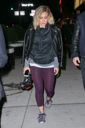 Hilary Duff in Leggings - New York City 1/14/2016