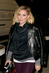 Hilary Duff in Leggings - New York City 1/14/2016