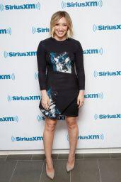 Hilary Duff Leggy in Mini Dress - at the SiriusXM Studios in New York City 1/11/2016