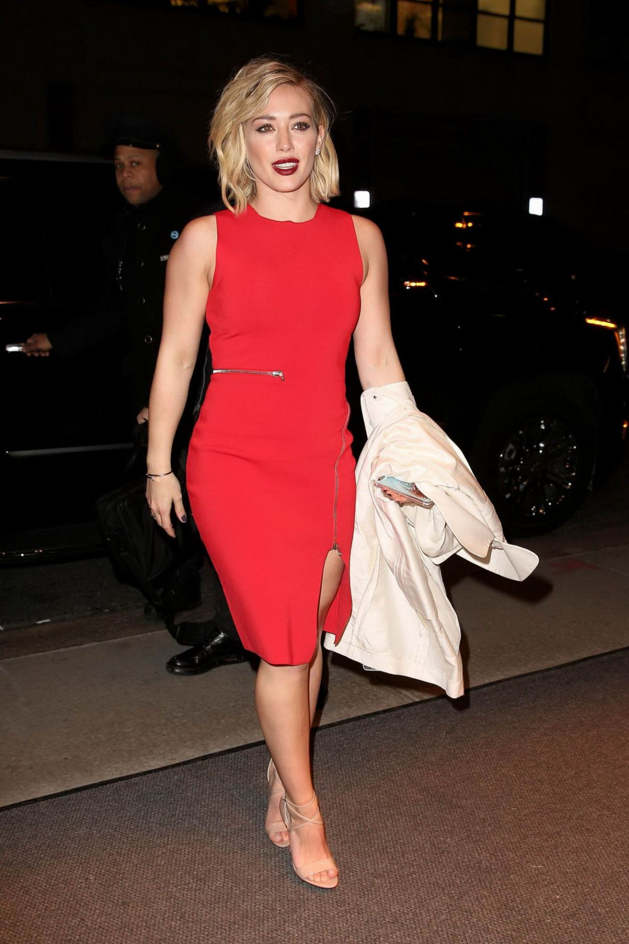 Hilary Duff Night Out Style - Out in Soho, January 2016 Hilary Duff
