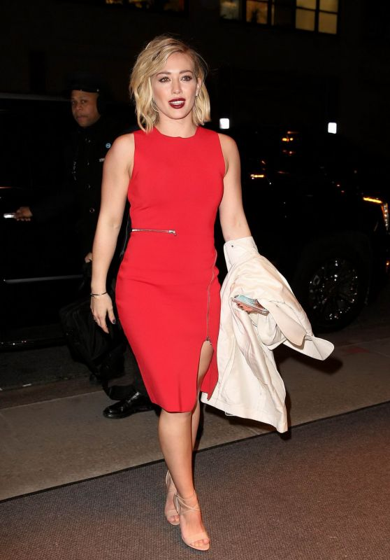 Hilary Duff Night Out Style - Out in Soho, January 2016