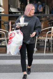 Hilary Duff Street Style - Out in Beverly Hills 1/22/2016