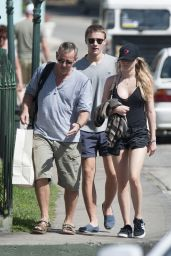 Immy Waterhouse in Shorts - Out in Barbados 12/31/2015
